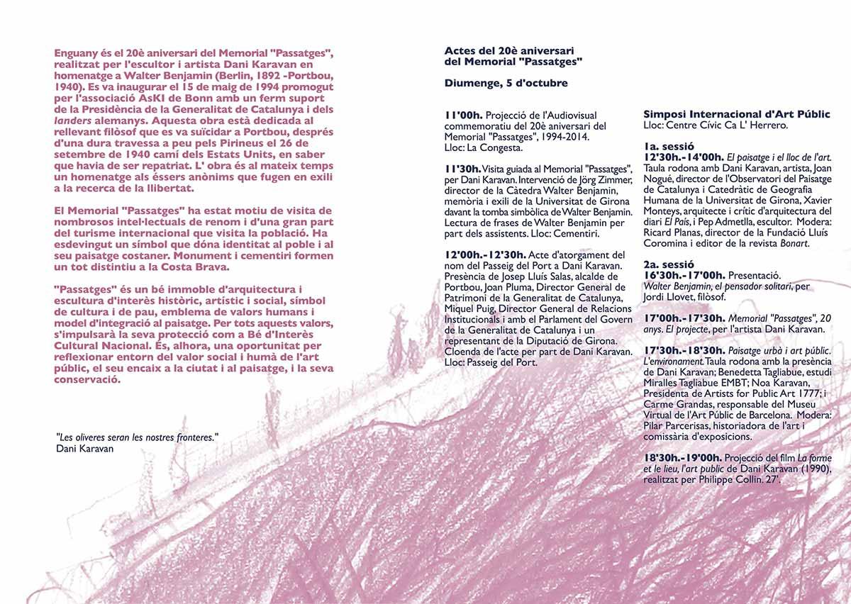 20è Aniversari del Memorial Passatges