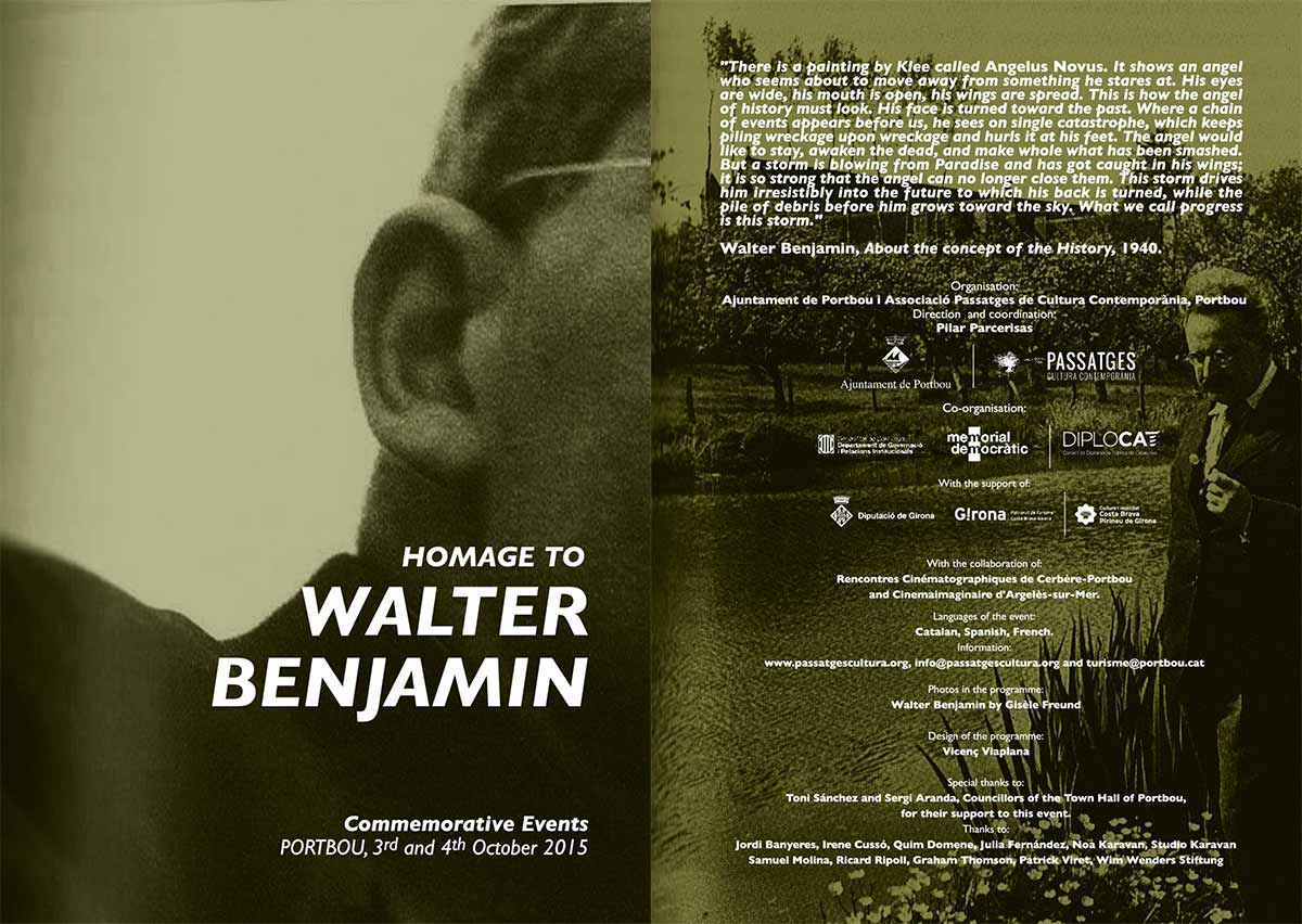 75th Anniversary of the Death of Walter Benjamin