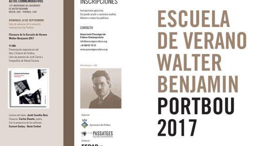 II Escuela de Verano Walter Benjamin y actos conmemorativos
