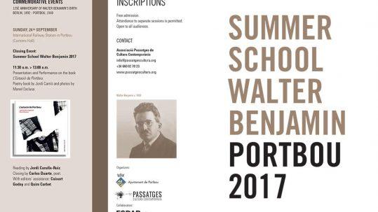 II Summer School Walter Benjamin and commemorative events