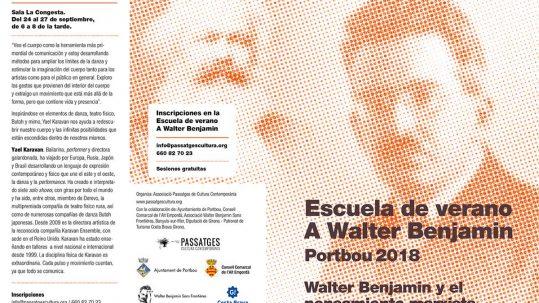 III Escuela de Verano Walter Benjamin y actos conmemorativos