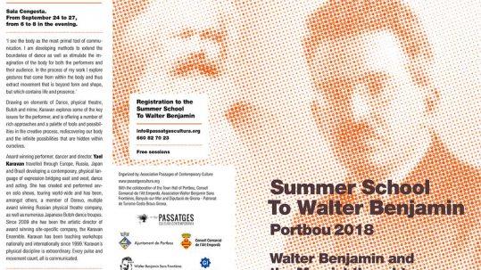 III Summer School Walter Benjamin and commemorative events
