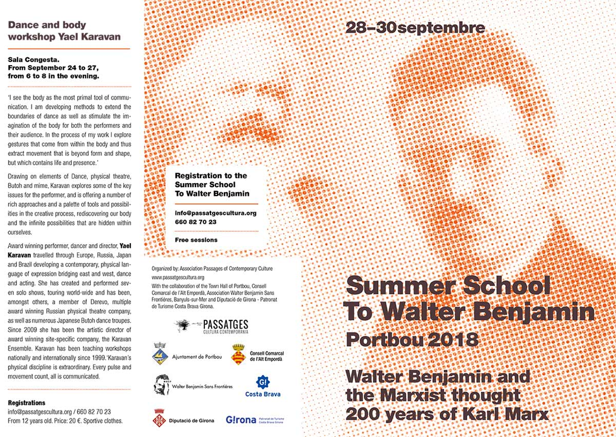 III Summer School Walter Benjamin and commemorative events