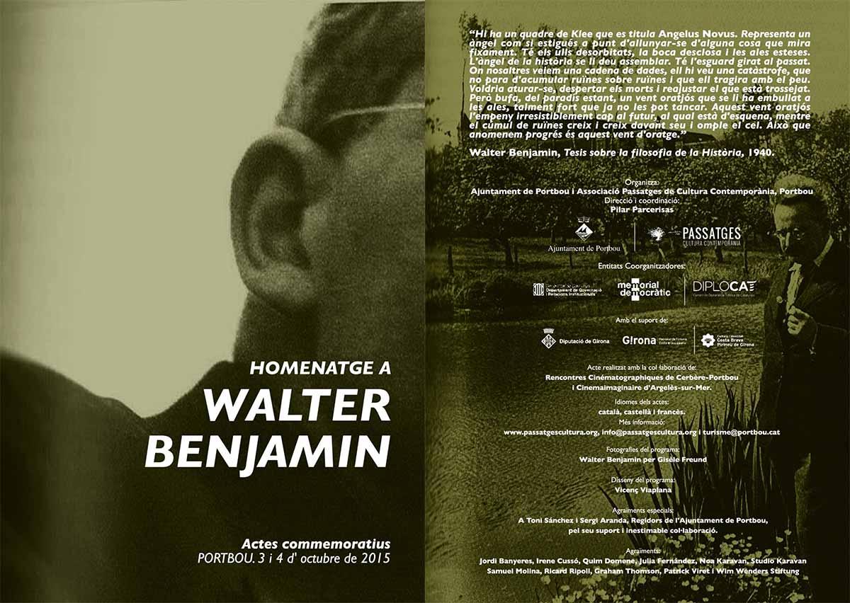 75è Aniversari de la mort de Walter Benjamin