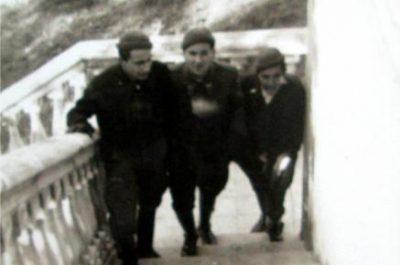 Carrabiners republicans a la platja de Portbou, 1935