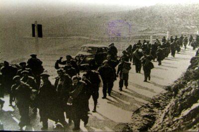 Exiliats camí de Cerbère 1939, ja en el costat francès
