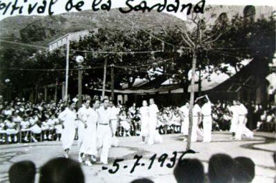 Festival de la Sardana a Portbou els primers dies de juliol de 1936
