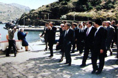 El President de la Generalitat de Catalunya, Jordi Pujol a Portbou el 1993