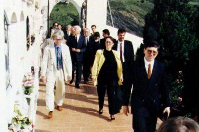 El President de la República federal d'Alemanya, Richard van Weizsäcker i el seu homòleg català, Jordi Pujol
