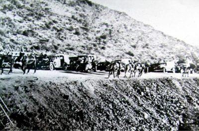 Les tropes de Franco arribant a la duana francesa, al coll dels Belitres, 1939