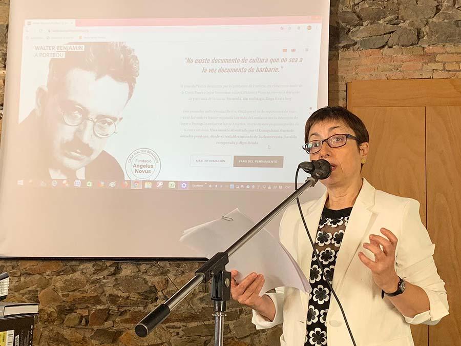 Pilar Parcerisas presentació web Walter Benjamin Portbou